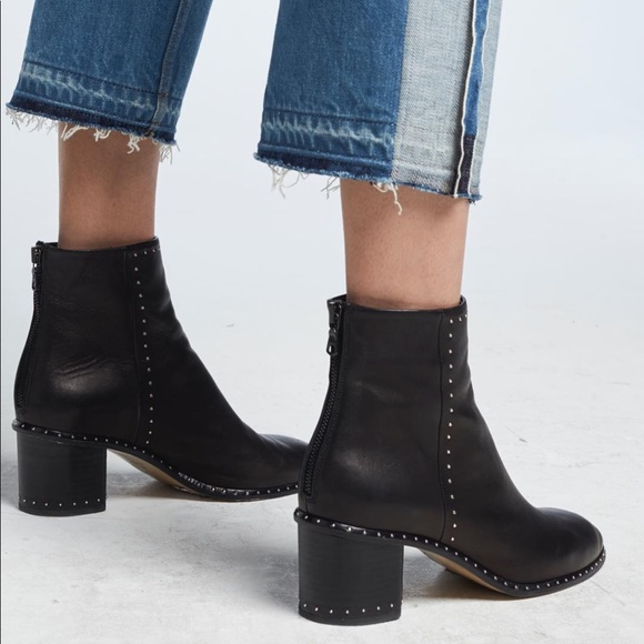 088f9780b25 Rag   Bone - Willow Studded booties -black leather.  M 5a53b9923a112e90040141fe